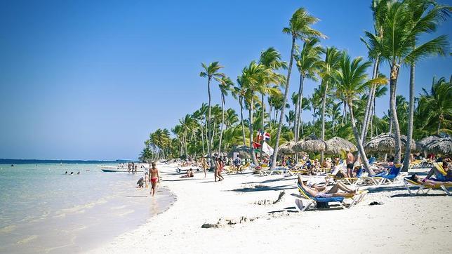 Palmeras y sol en Punta Cana