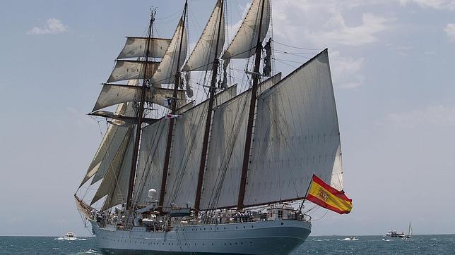 El Juan Sebastián de Elcano llega a Miami 500 años después del descubrimiento de Florida