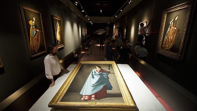 Imagen del montaje de la exposición
