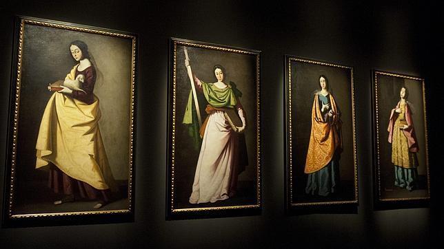 Cuatro de las santas de Zurbarán presentes en la exposición