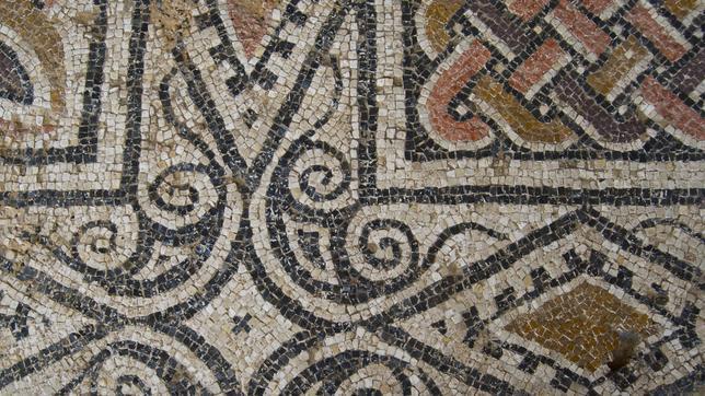 Detalle de uno de los mosaicos de la villa romana de Los Villaricos