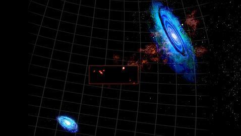 Colosales nubes de gas aparecen cerca de nuestra galaxia