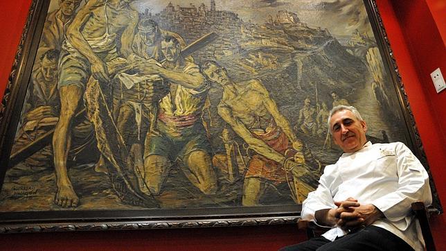 «Los pescadores del rio Tajo», de Gregorio Malagón, en el restaurante Adolfo