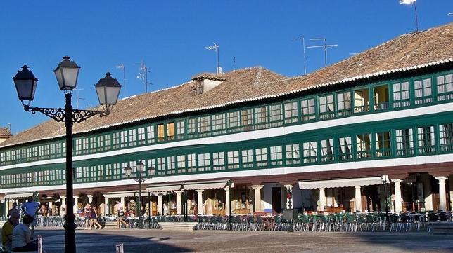 Un detalle de la plaza de Almagro