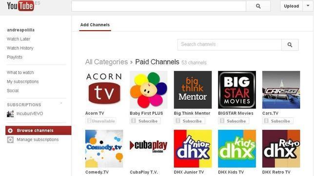 YouTube ya empieza a cobrar