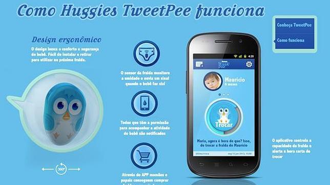 TweetPee, una aplicación que avisa con un «tuit» cuando el bebé se hace pis