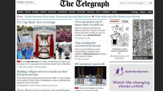 Brutal ataque de «The Telegraph» a España