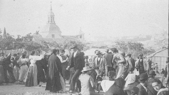 La ermita del santo, en una antiquísima foto de archivo de comienzos de siglo