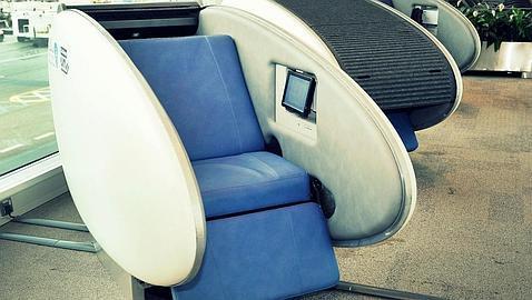Crean una «habitación cápsula» para dormir la siesta en el aeropuerto