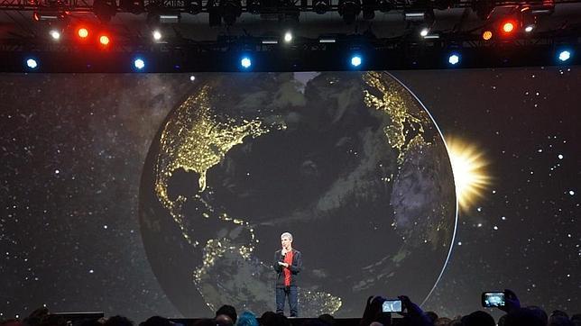 Larry Page durante la Keynote