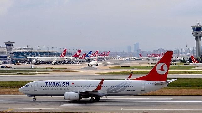 Un avión de turkish airlines