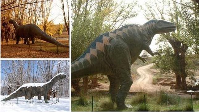 El Parque Paleontológico cuenta con reproducciones de algunos dinosaurios que han aparecido en Galve