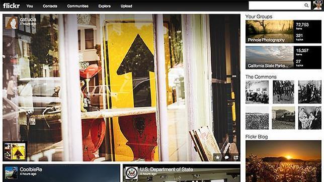 El «desorganizado» nuevo diseño de Flickr
