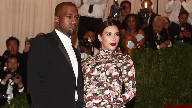 Kim Kardashian y su novio, el rapero Kanye West