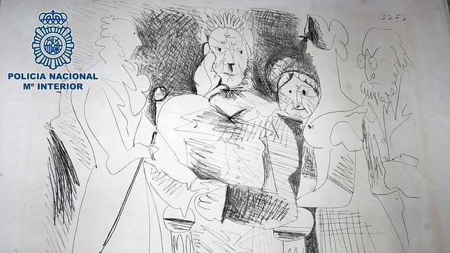 Una de las obras de Picasso recuperadas
