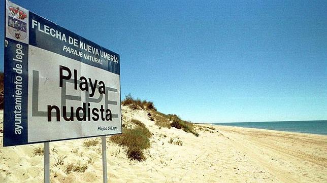 Playa nudista de Nueva Umbría