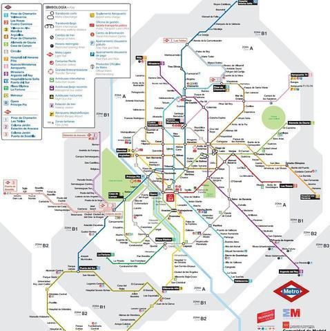 Mapa Del Metro Madrid.Asi Es El Nuevo Mapa Del Metro De Madrid
