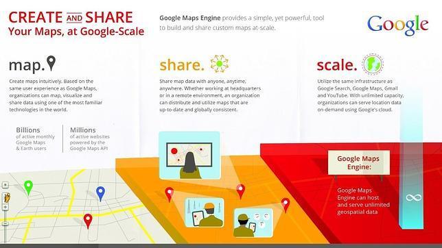 Llega la API de Google Maps Engine