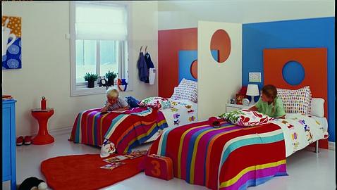 De qué color pinto la habitación del niño?
