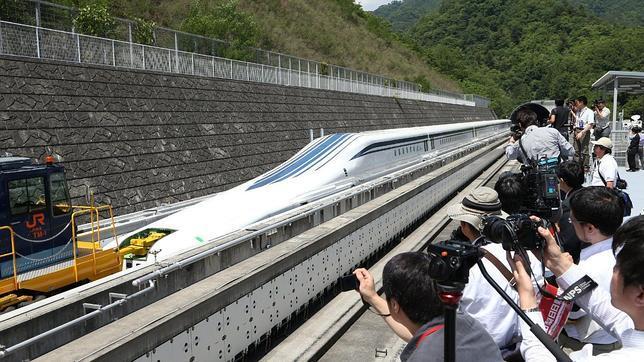 Prototipo del nuevo tren magnético japonés