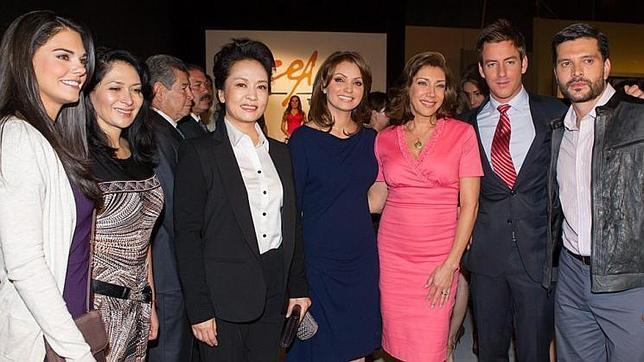 ... primeras damas de China y México asisten al rodaje de una telenovela