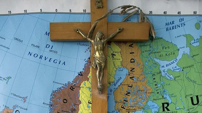Un crucifijo en un aula de una escuela italiana