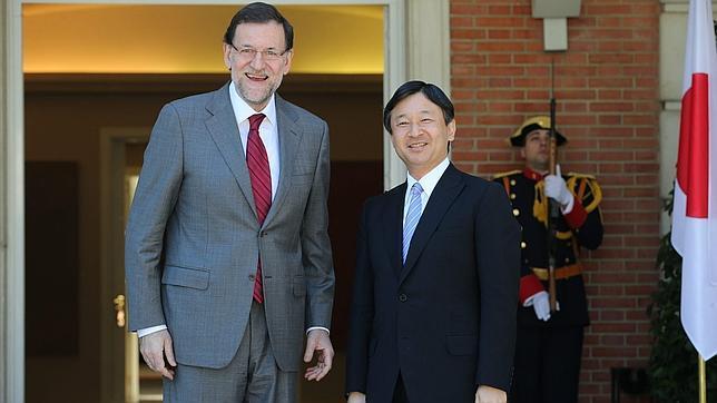 El presidente del Gobierno recibe a Naruhito