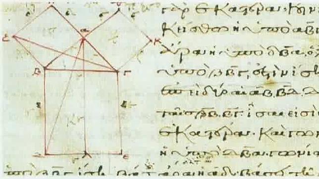 Demostración del teorema de Pitágoras en el libro de los «Elementos» de Euclides