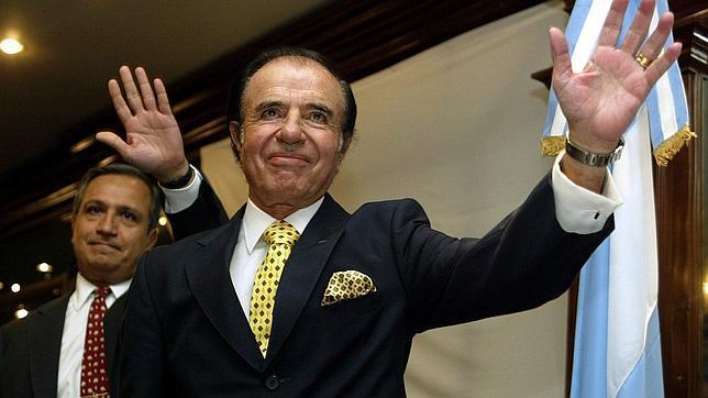 El expresidente argentino Carlos Menem, condenado a siete años por tráfico de armas