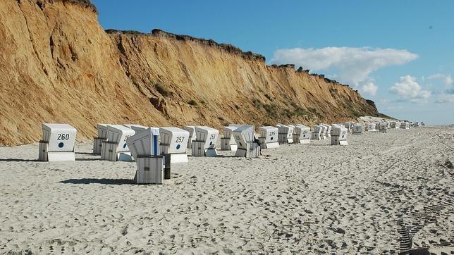 La playa de Sylt (en la foto) y un vídeo con el espectáculo de los paisajes de la zona