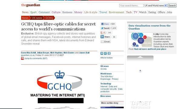 La inteligencia británica tiene «pinchada» la red global de cables de fibra óptica