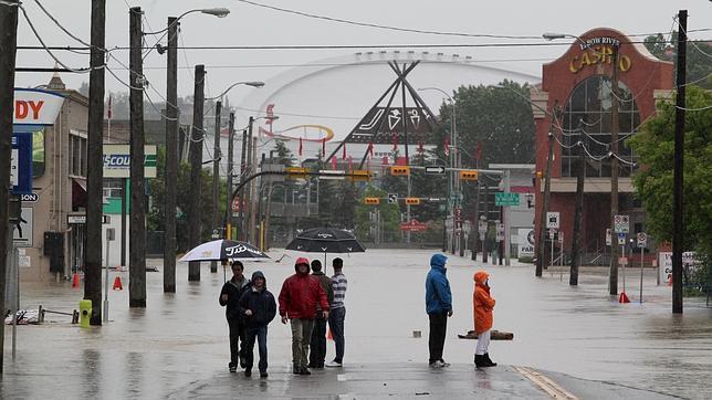 Imagen de Calgary inundada tras las fuertes lluvias