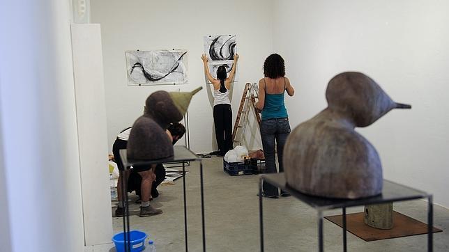 Artistas en la Fundación Arranz de L'Hospitalet