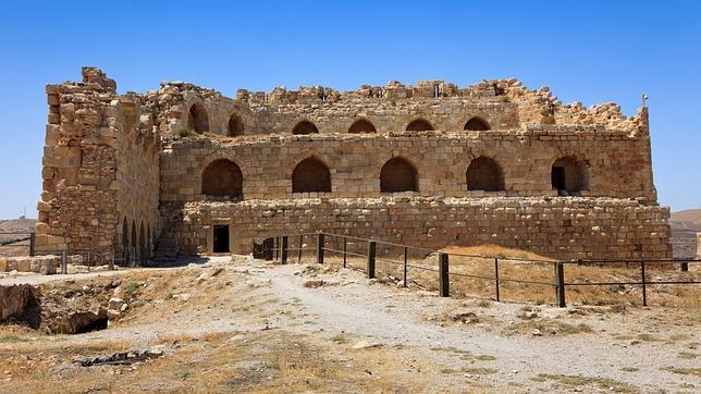 Castillo de Kerak, un gran castillo de los cruzados situado en Karak (Jordania)