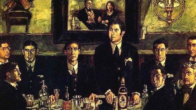 Tertulia en el Café de Pombo, inmortalizada por José Gutiérrez Solana