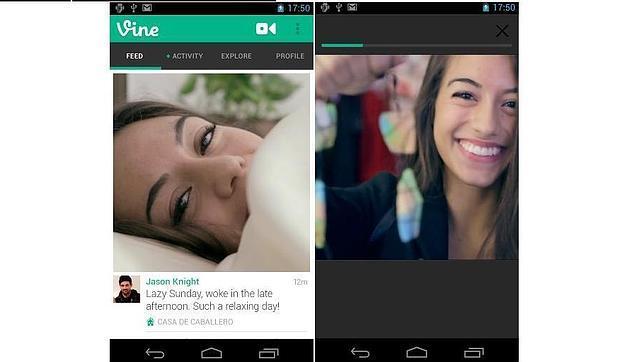 Vine para Android ya soporta la cámara frontal