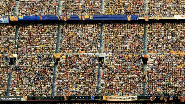 El Camp Nou, altavoz independentista