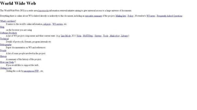 La primera web de la historia, bloqueada por una contraseña olvidada