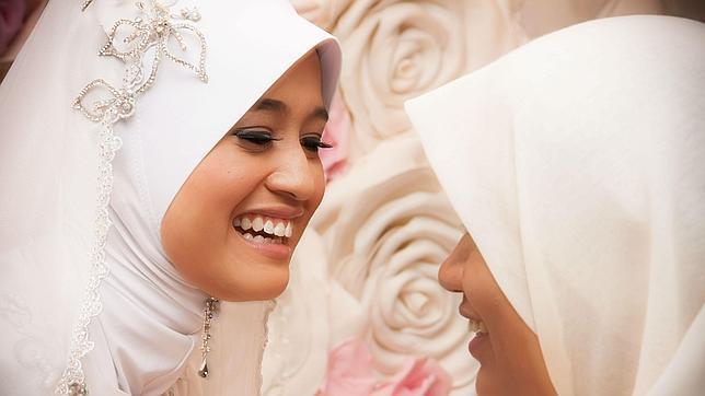 Novia en una boda musulmana