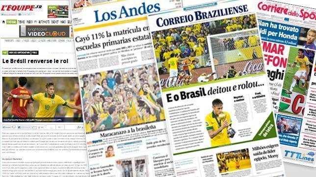 Copa Confederaciones: La prensa internacional recoge la «humillación» de España