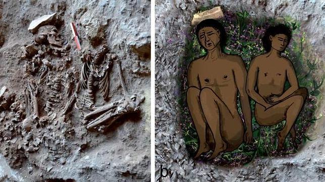 La primera tumba a la que llevaron flores, hace 13.000 años