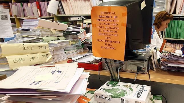 abc. Imagen de un juzgado de Madrid