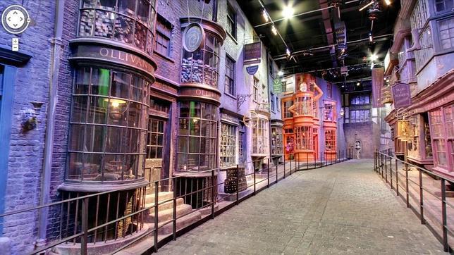 Así se ve el set de rodaje de Harry Potter con Google Street View