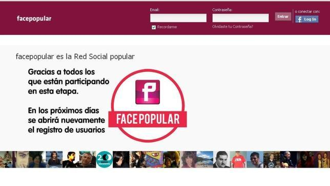 Llega Facepopular, la versión argentina de Facebook