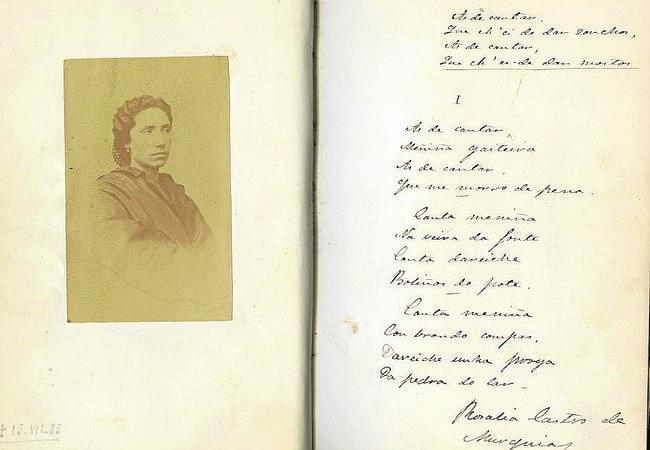 Un ejemplar inédito de «Cantares Gallegos» de Rosalía sale a la luz