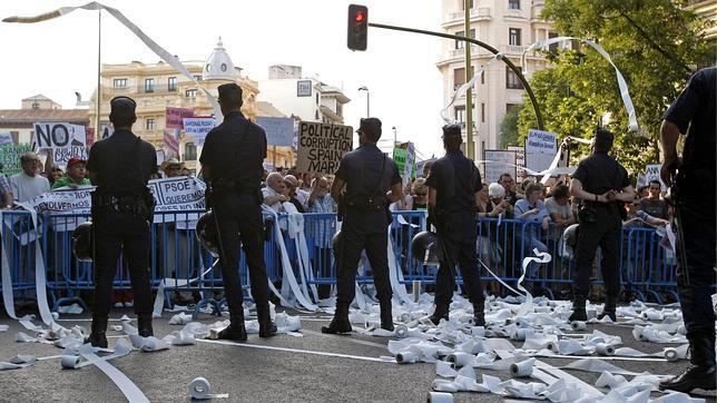 En libertad los dos manifestantes detenidos ayer en la manifestación de Madrid