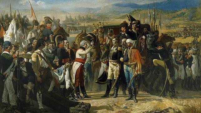 «La rendición de Bailén», cuadro de José Casado del Alisal que se exhibe en el Museo del Prado, con el general Castaños a la izquierda y el derrotado general Dupont a la derecha