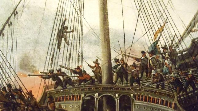 La flota francesa cae derrotada en Muros y se hunde con el brazo de San Guillermo
