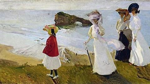 «Paseo del faro de Biarritz» de Joaquín Sorolla