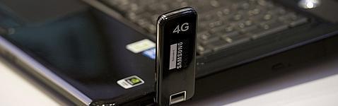 Una tarjeta de navehgación móvil 4G en Alemania